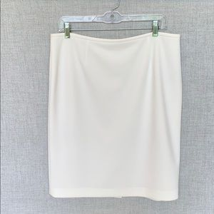 White Calvin Klein Pencil Skirt